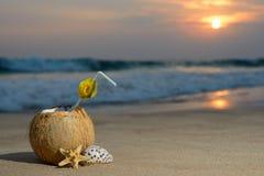 Cocktail sur la plage Photos stock