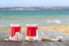 Cocktail sur la plage images libres de droits