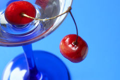 Cocktail and sweet cherry Royalty Free Stock Photos