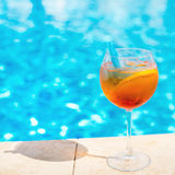 Cocktail at the swimming pool Royalty Free Stock Photography