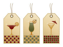 Cocktail tags Stock Photo