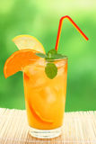 Cocktail with tangerine and lemon juice Royalty Free Stock Images