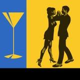 Cocktail-Tanz stock abbildung