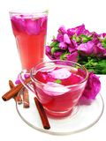 Cocktail tea drink with wild rose and cinnamon Royalty Free Stock Photo