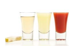 Cocktail - Tequila, Verse Citroen, Verse Tomaat Stock Foto