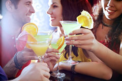 Cocktail time in club Royalty Free Stock Photos