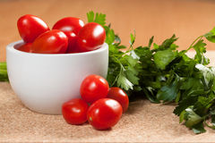 Cocktail tomatoes Stock Photography
