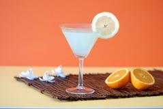 Cocktail très grand avec le citron Image libre de droits