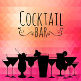 Cocktail triangle background Stock Image