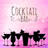 Cocktail triangle background Royalty Free Stock Photography