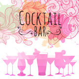 Cocktail triangle background Royalty Free Stock Images