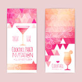 Cocktail triangle background stock illustration