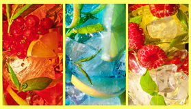 Cocktail trio Royalty Free Stock Images