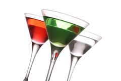 Cocktail Trio. Stock Images