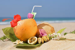 Cocktail tropical photo stock