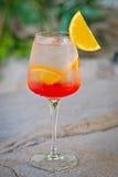 Cocktail tropical alcoólico de refrescamento Fotos de Stock