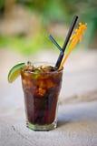 Cocktail tropical alcoólico de refrescamento Cuba Libre Imagens de Stock