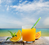 Cocktail on tropical  beach Stock Image