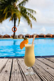 Cocktail on tropical beach Stock Images