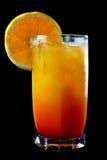 Cocktail tropical d'orange et de rhum Photographie stock