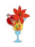 Cocktail tropical do amor Fotos de Stock Royalty Free