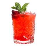 Cocktail tropical vermelho Fotos de Stock Royalty Free