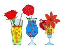 Cocktail tropicale di amore Fotografia Stock