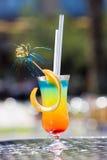 Cocktail tropicale sulla tabella fotografia stock