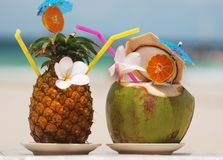 Cocktail tropicali Immagini Stock Libere da Diritti