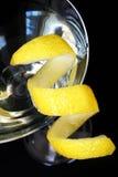 Cocktail Twist. Close up of citrus twist cocktail Stock Photos