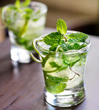 Cocktail - two cold mojitos Royalty Free Stock Photos