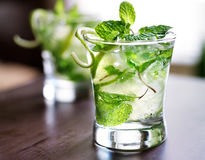 Cocktail - two cold mojitos Royalty Free Stock Photography