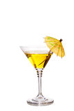 Cocktail with umbrella Royalty Free Stock Photo