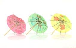 Cocktail umbrella. On white background Royalty Free Stock Photos