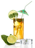 Cocktail with umbrella Royalty Free Stock Photography