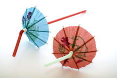 Cocktail Umbrella Straws Royalty Free Stock Photos