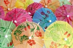 Cocktail umbrellas Stock Photos