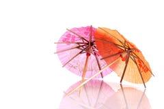 Cocktail umbrellas Stock Photography
