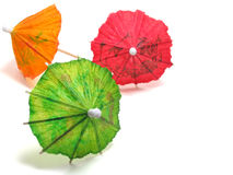 Cocktail Umbrellas stock photography