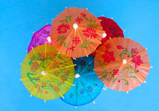 Cocktail umbrellas royalty free stock photography