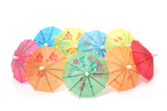 Cocktail umbrellas Stock Photo