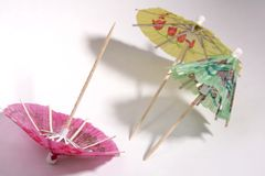 Cocktail umbrellas royalty free stock image