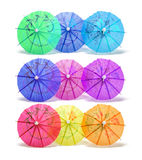 Cocktail Umbrellas Royalty Free Stock Images