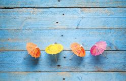 Cocktail umbrellas, Stock Images