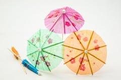 Cocktail umbrellas Stock Image