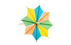 Cocktail umbrellas isolated Stock Photos