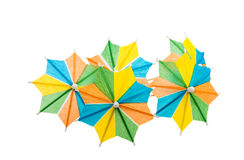 Cocktail umbrellas isolated Royalty Free Stock Photos