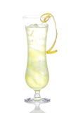 Cocktail van alcohol de gele Margarita met verpletterd ijs Royalty-vrije Stock Afbeeldingen