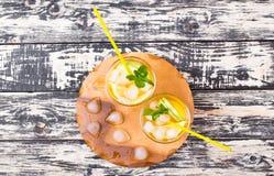 Cocktail van appel en een citroen Royalty-vrije Stock Afbeelding