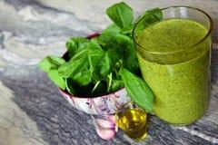 Cocktail van spinazie Stock Afbeelding